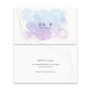 オンデマンド名刺 女性名刺 片面カラー/片面白黒の商品画像