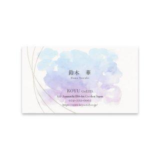 オンデマンド名刺 女性名刺 片面カラーの商品画像
