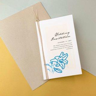紙刺繍ウェディング招待状セットの商品画像