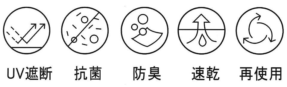 機能性ファッションマスク フィットンチッド加工 2枚入【画像4】