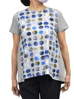 水玉切り替え Tシャツ