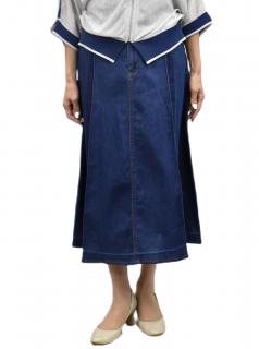スカート タック入り染め デザインスカート