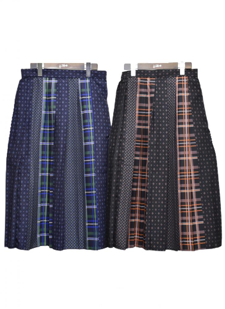 チェックと小花模様の ギャザースカート【画像5】
