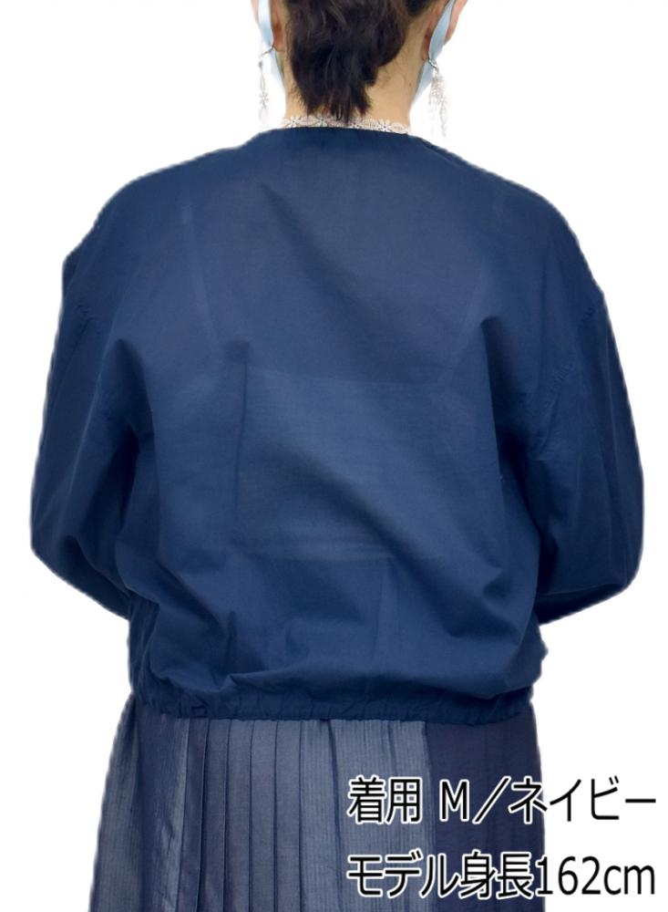 QVC掲載 綿レース ジップアップ ジャケット【画像3】