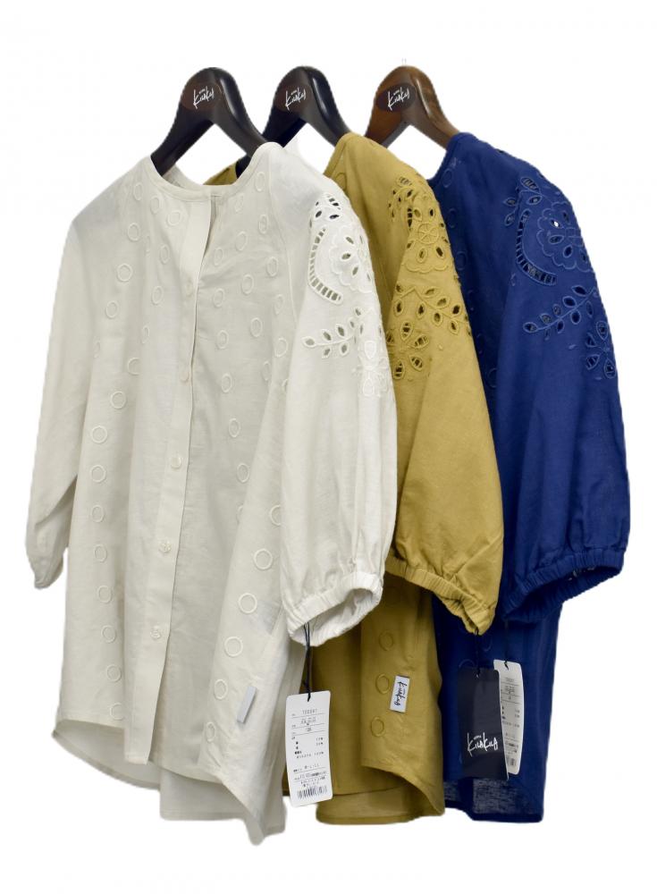 QVC 綿麻 刺繍ブラウス ジャケット【画像6】