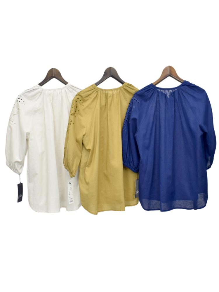 QVC 綿麻 刺繍ブラウス ジャケット【画像8】