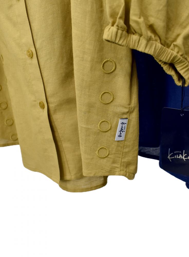 QVC 綿麻 刺繍ブラウス ジャケット【画像9】