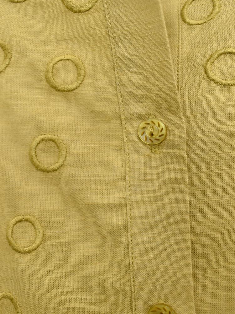 QVC 綿麻 刺繍ブラウス ジャケット【画像10】