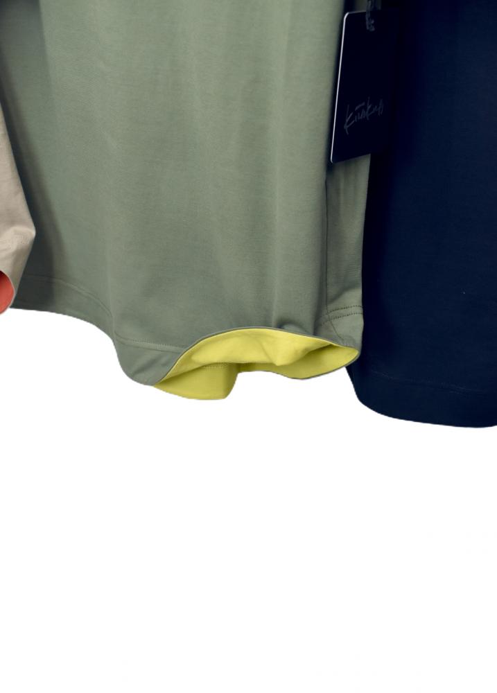 QVC 綿100% 配色 刺繍入り チュニック【画像11】