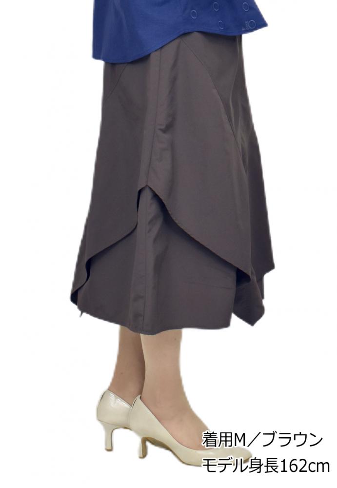QVC 変形 フレアー スカート【画像2】