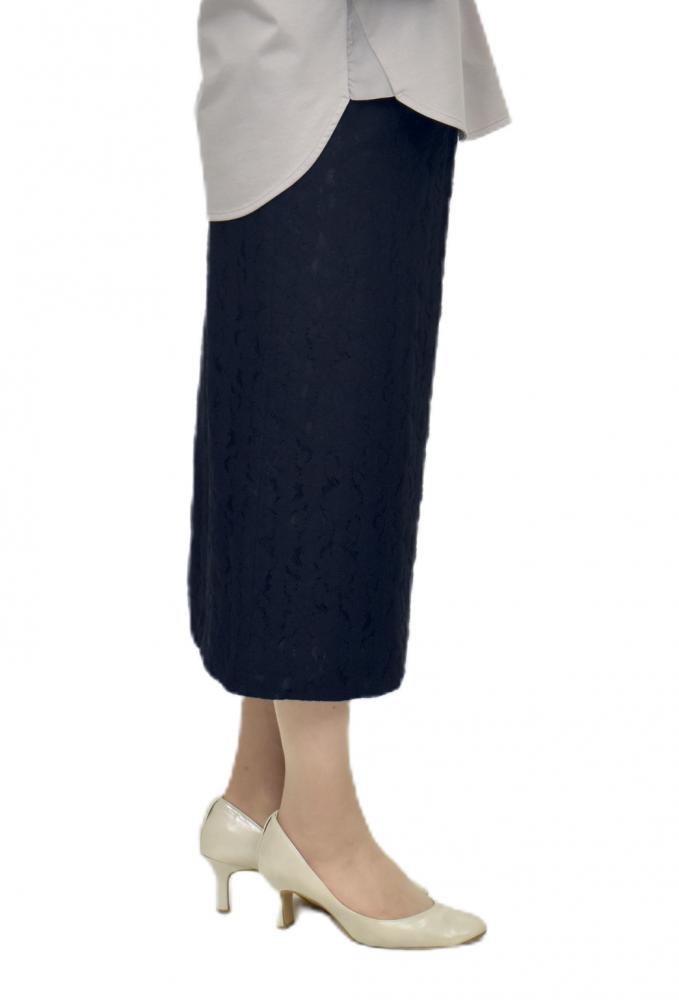 QVC掲載商品 エレガンス総レースタイトスカート【画像2】