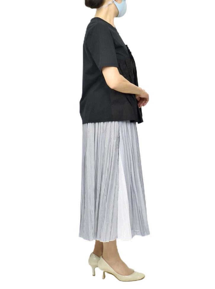 QVCランダムストライププリーツスカート【画像6】