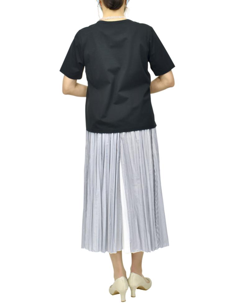QVCランダムストライププリーツスカート【画像7】