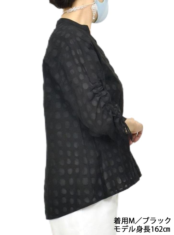 QVC綿塩縮ブラウスジャケット【画像4】