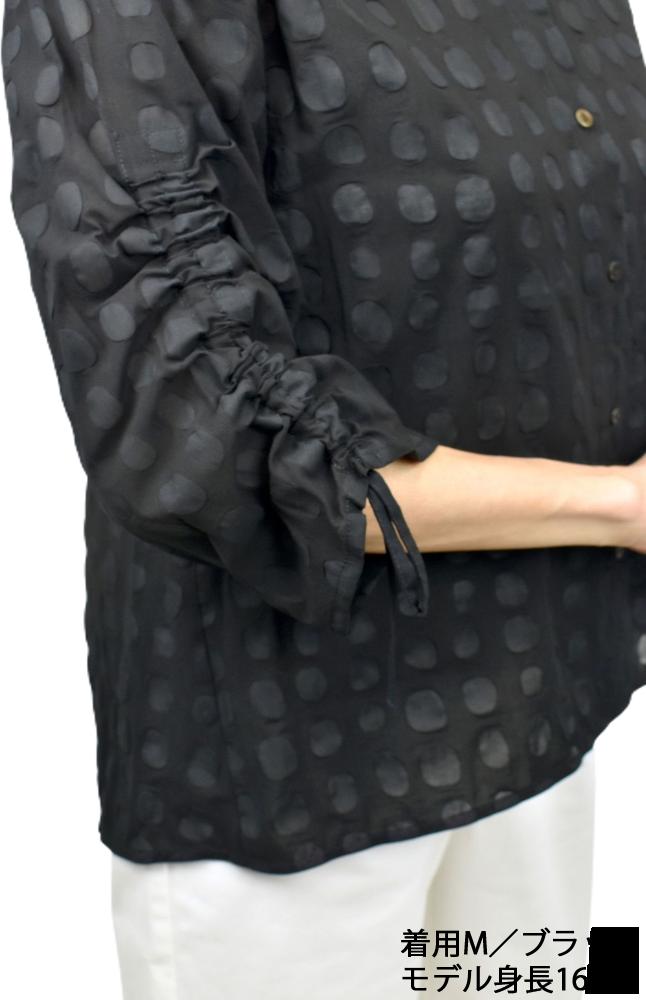 QVC綿塩縮ブラウスジャケット【画像6】
