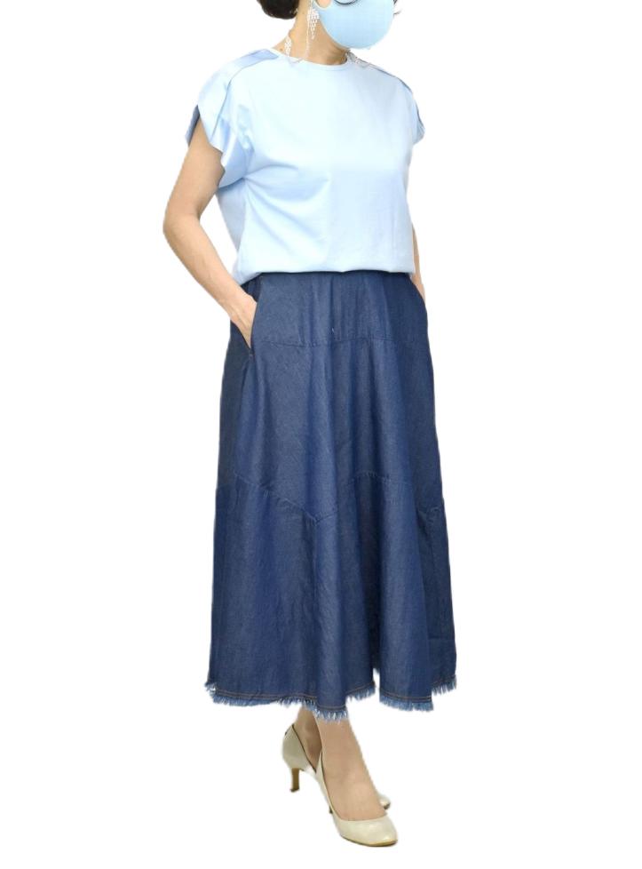 QVC変形デニムスカート【画像5】
