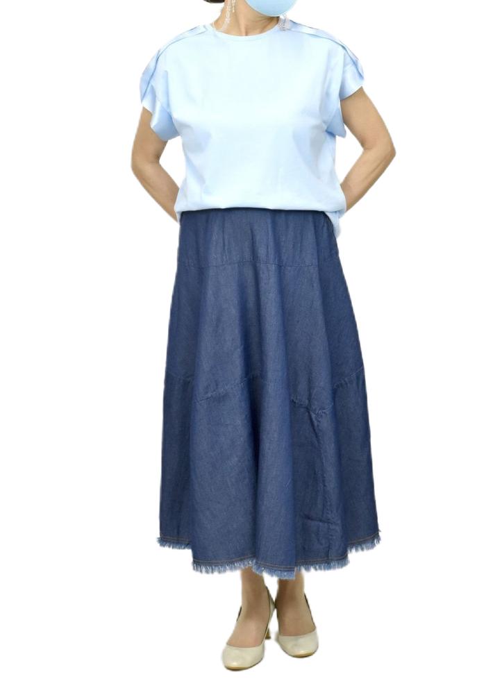 QVC変形デニムスカート【画像6】