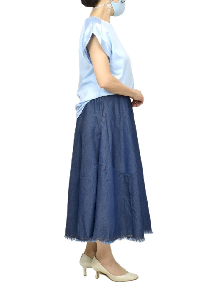QVC変形デニムスカート【画像7】