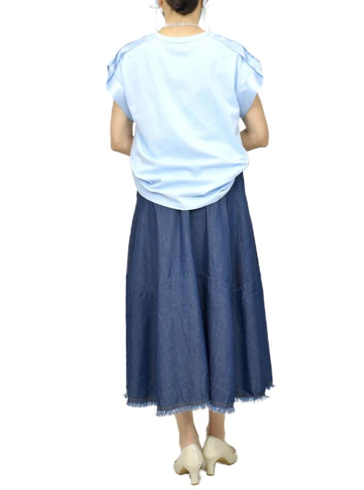 QVC変形デニムスカート【画像8】