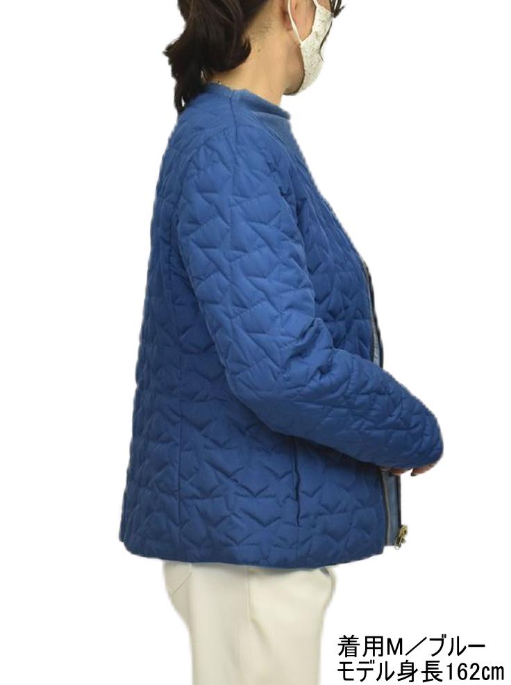 QVC リバーシブル キルティング ジャケット 星柄【画像2】