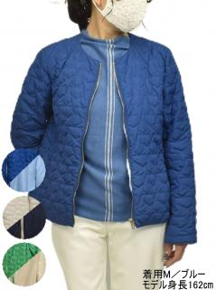 ジャケット QVC リバーシブル キルティング ジャケット 星柄