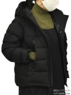 シームレス スポーティーフード ダウンジャケット