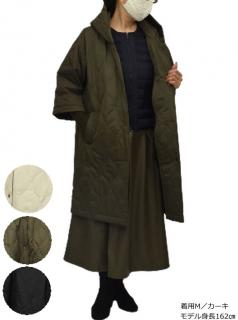 ジャケット QVC 変形 フーデットキル コート