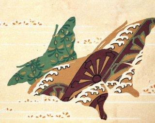 古代模様蝶鳥