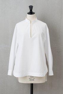 Vネックオープンシャツ ホワイト