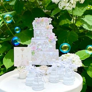 【SALE】 ケーキ型バブルシャワー24個セット(リボン付)