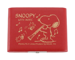 Bbクラリネットリードケース SNOOPYスヌーピー 5枚用SCL-05