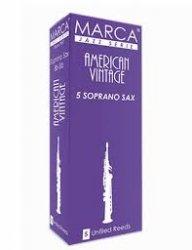ソプラノサックス用リード マーカ MARCA アメリカン ヴィンテージ AMERICAN VINTAGE 5枚入り パワフルで骨太のサウンドが特徴