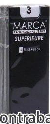 コントラバスクラリネット用リード マーカ MARCA スペリアル SUPERIEURE 5枚入り バランスが良くハリのある音色