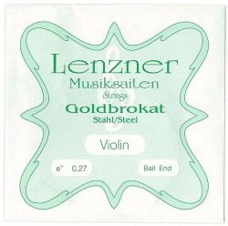 バイオリン弦 4/4  レンツナー ゴールドブロカット1弦 E線