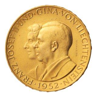 フランツ2世御成婚 100フラン金貨 1952年