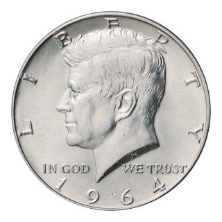 ケネディ50セント銀貨 1964年