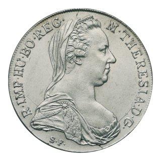 オーストリア 1780年 1テーラー銀貨 リストライク(極美〜未使用)