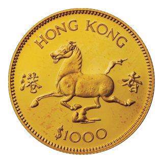 香港 1978年 1000ドル プルーフ金貨 馬