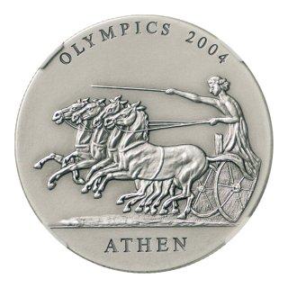 ガーナ アテネオリンピック記念貨 500シカ銀貨 2001年 NGC MS70