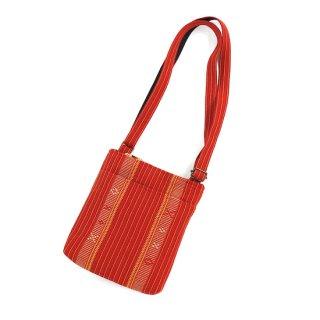 花織ながショルダーバッグ 赤
