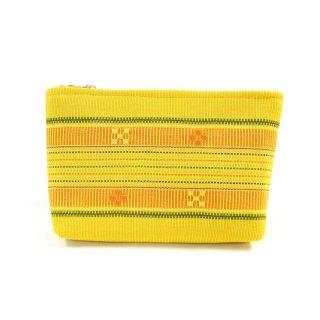 花織ポーチ(大)黄色