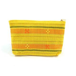 花織ポーチ(中)黄色