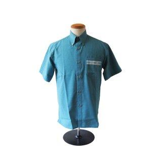 みんさウェア BD半袖(男性用)ターコイズブルー