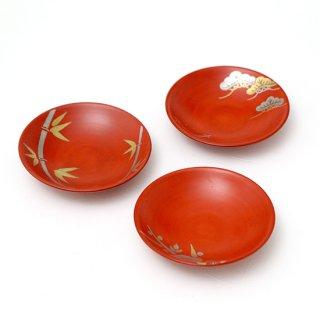 朱巻平皿(3柄)
