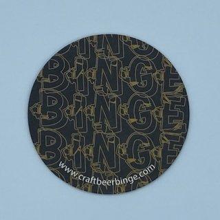 BINGE COASTER BLACK/GOLD & BLACK/SILVER コースター
