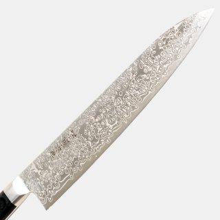 【限定品】ZDP189ダマスカス21層牛刀270mmツバ付黒合板柄付
