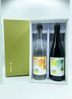 【おかえりモネコラボ】<br>澤乃泉 日本酒&粕取焼酎2本ギフトセット<br>お天気ラベル