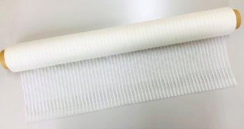 �2543 正絹生絹(すずし)ストライプショール53×175房3cm  10枚1巻 染色用 未精練