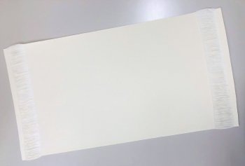 �1016 綿テーブルセンター 32×50房5cm  20枚1セット 染色用 精練済