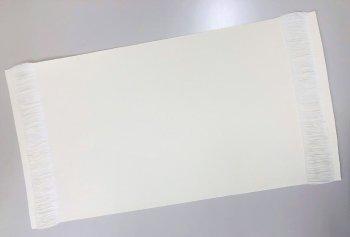 �51016 綿テーブルセンター 32×50房5cm  20枚1セット 染色用 未精練